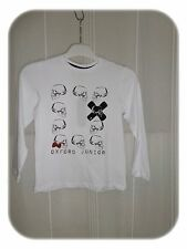 Haut T-shirt Blanc Motif Crânes  Oxford Junior Taille 8 / 9  ans Neuf