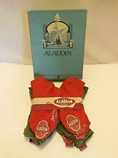 Nos 1 Dozen Vintage Socks In Original Box Aladdin Brand 3 Colors Sz 6 #3
