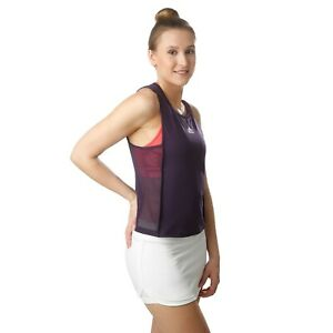 Adidas ClimaCool Womens Escouade Sheer Side Ventilated Purple Tank Top - S M & L