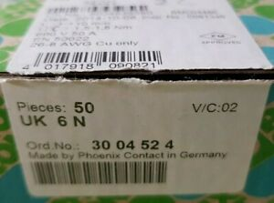 PHOENIX CONTACT Klemme UK6N  6mm²  3004524 NEU OVP
