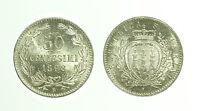 pcc1658_5) Repubblica San Marino - Vecchia monetazione 50 centesimi 1898