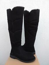 UGG SIBLEY BLACK OVER THE KNEE SUEDE/ SHEEPSKIN BOOTS, US 9.5/ EUR 40.5 ~NIB