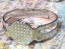 20 Platinum Brass Finger RING Base Blanks Findings Settings Cabachon Steampunk