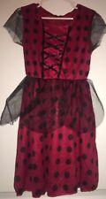Nwt Fantast Costumes Girls Small 4-6 Red Black Vintage Polka Dot Dress Lady Bug