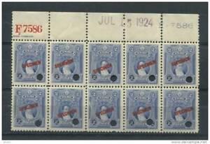 Peru 1924 SPECIMEN Block of 10 OG NH Jose Legula RARE