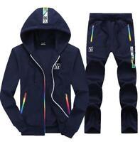 Mens Sporting Suit Tracksuit Sweatshirt Hooded Jacket Pants Sportswear hoody