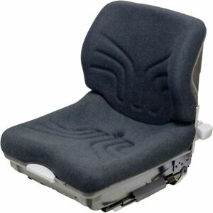Grammer Brand Black/Gray Fabric Low Profile Seat and Suspension for Forklift etc