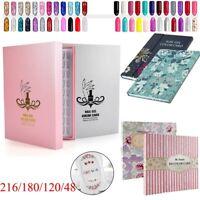 216/180/120/48 Tips Colour Chart Display Book For UV Gel Polish Nail Art Salon