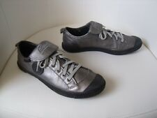 ♥ Baskets Tennis Pataugas Brooks cuir gris argent 38 ♥