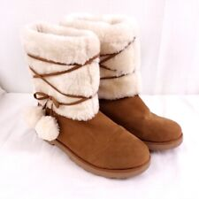 LASONIA B272 Women/'s Round Toe Winter Snow Booties Brown