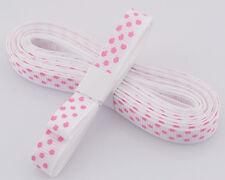"White - red dot 5yds 3/8""(10 mm)Printed Party Polka Dot Grosgrain Ribbon#"