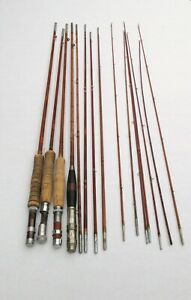 Large Lot SOUTH BEND Bamboo Fly Fishing Rods for Parts or Repairs #93