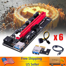 6Pcs 60cm Ver009S Pci-E Riser Card Pcie 1x to 16x Usb 3.0 Data Cable Bitcoin