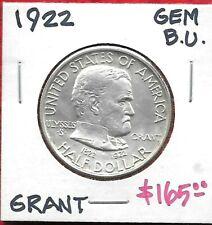 New listing 1922 Grant Commemorative Silver Half Dollar - Original - Gem B.U. 🔥Nice!