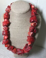 Stunning one of a kind Vintage Chunky Coral Beaded Necklace Statement Piece 450g