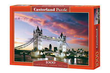 Puzzle 1000 TOWER BRIDGE LONDON ENGLAND jigsaw MOST W LONDYNIE CASTOR *JBook