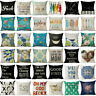 Home Bed Decor Cotton Linen Square Decorative Throw Pillow Case Cushion Cover