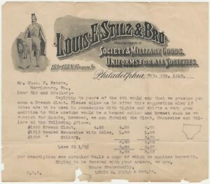 1910 Letter re: American Indian Costumes from Fraternal & Society Uniform Dealer