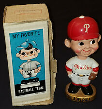 1960's PHILADELPHIA PHILLIES MLB BOBBING /BOBBLE HEAD /NODDER with BOX ORIGINAL