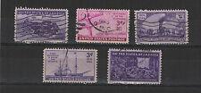 U.S.A. États-Unis 1944-45 5 timbres oblitérés  /T2027