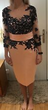 mother of the bride outfit Size 10/12 baby pink and navy lace. Handmade