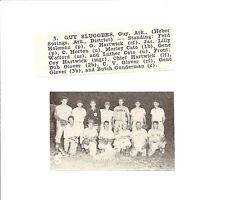 Guy Sluggers Arkansas 1952 Baseball Team Picture