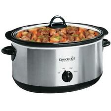 Crock-Pot 7-Quart Oval Manual Slow Cooker, Stainless Steel (SCV700SS) New