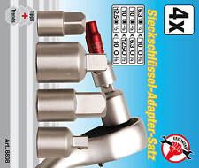 Steckschlüssel Satz Adapter Nuss Set 4-tlg Reduzierung Reduzierstück 1/4 3/8 1/2