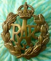 WW1 RAF Royal Air Force Cap Badge KC BRASS 2 Lugs ANTIQUE Original