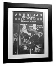 NEIL YOUNG+American Stars+POSTER+AD+FRAMED+RARE ORIGINAL 1977+FAST GLOBAL SHIP