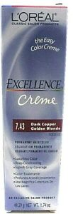 Loreal Excellence Creme Permanent Haircolor7.43 Dark Copper Golden Blonde 1.74oz