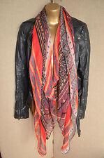 GLAM red boho aztec tribal scarf, pashmina, navajo nordic festive hippy
