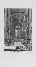 Antique map, De nieuwe kerk van binnen naar 't weten to zien