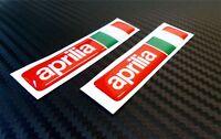 2 ADESIVI APRILIA RACING RESINATI ADESIVO RESINATO 3D STICKERS 6X1,4 CM COD.12