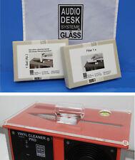 GLÄSS AUDIO DESK Vinyl Cleaner Microfaser-Reinigungswalzen+Filter+AcrylAbdeckung