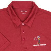 """Smooth Hitters Pink Panther Men XL 48"""" Golf Polo Shirt Red Polyester"""