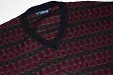Jersey de punto suéter Sweater Knit sudadera vintage Monello merino lana 52 L