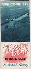 1970's Grantsburg Wisconsin Promotional Map Brochure