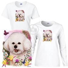Long Sleeve White T Shirt Basset Hound Dog Sleeping Pose #2 Ladies Short