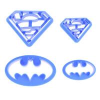 4PCS Super Hero Batman Sugarcraft Plunger Cutter Fondant Cake Cookie Decor Mold