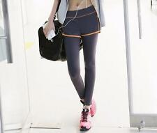 Da Donna Sport Yoga Corsa Pantaloni Fitness Abbigliamento Da Palestra Jogging Pantaloni-L viola