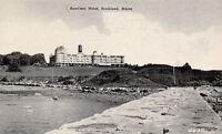 Rockland Maine~SamOset Hotel~Water Tower~1940s B&W Postcard