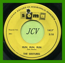 THE GESTURES (Run, Run, Run / It Seems To Me) ROCK  45 RPM  RECORD