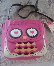NWT Betsey Johnson LB Owl Fuchsia Crossbody Purse Handbag Pink Super Cute!