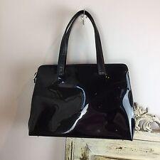 Beijo Black Patent Leather Tote Bag Shopper Bag Work Briefcase Career