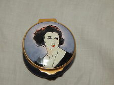 VTG TOYE  KENNING & SPENCER ENGLAND ENAMEL BOX W / LADY CONSTANCE PORTRAIT