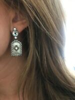 Brighton Silver and Crystal drop earrings FREE SHIPPING