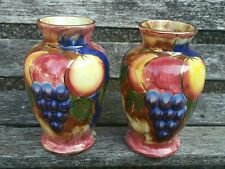 More details for pair of vintage old court ware england vases