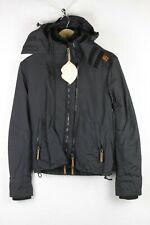 SUPERDRY Mens Jacket Coat THE WIND CHEATER Zipper FLEECE Hooded XS SLIM DN1RL