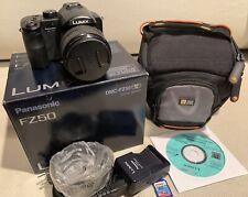 Panasonic LUMIX DMC-FZ50 10.1MP Camera LEICA 12X OPTICAL ZOOM BOX CASE SD EXC!